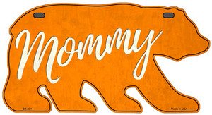 Mommy Orange Wholesale Novelty Metal Bear Tag BR-031