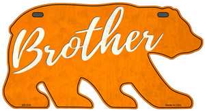Brother Orange Wholesale Novelty Metal Bear Tag BR-034