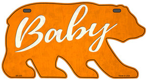 Baby Orange Wholesale Novelty Metal Bear Tag BR-035