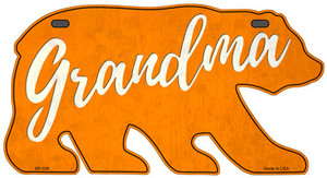 Grandma Orange Wholesale Novelty Metal Bear Tag BR-036