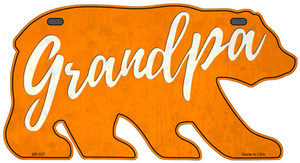 Grandpa Orange Wholesale Novelty Metal Bear Tag BR-037