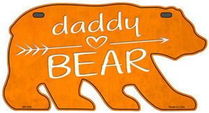 Daddy Arrow Orange Wholesale Novelty Metal Bear Tag BR-039