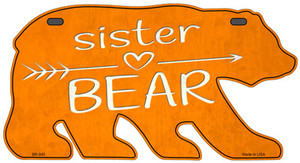 Sister Arrow Orange Wholesale Novelty Metal Bear Tag BR-040
