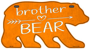 Brother Arrow Orange Wholesale Novelty Metal Bear Tag BR-041