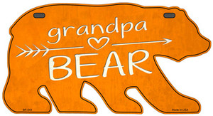 Grandpa Arrow Orange Wholesale Novelty Metal Bear Tag BR-044