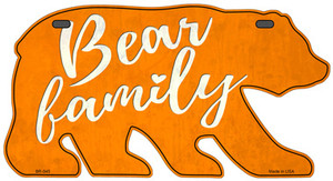 Bear Family Orange Wholesale Novelty Metal Bear Tag BR-045