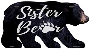 Sister Paw Wholesale Novelty Metal Bear Tag BR-048