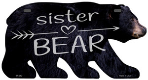 Sister Arrow Wholesale Novelty Metal Bear Tag BR-062