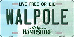 Walpole New Hampshire Wholesale Novelty Metal License Plate Tag LP-13790