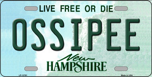 Ossipee New Hampshire Wholesale Novelty Metal License Plate Tag LP-13791
