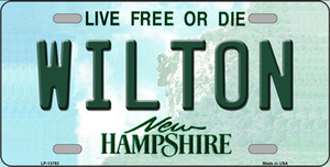Wilton New Hampshire Wholesale Novelty Metal License Plate Tag LP-13793