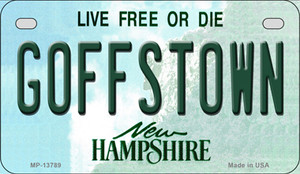 Goffstown New Hampshire Wholesale Novelty Metal Motorcycle Plate MP-13789