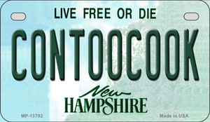 Contoocook New Hampshire Wholesale Novelty Metal Motorcycle Plate MP-13792
