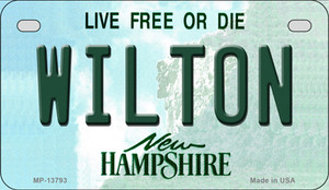 Wilton New Hampshire Wholesale Novelty Metal Motorcycle Plate MP-13793