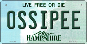 Ossipee New Hampshire Wholesale Novelty Metal Bicycle Plate BP-13791