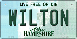Wilton New Hampshire Wholesale Novelty Metal Bicycle Plate BP-13793