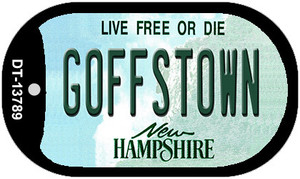 Goffstown New Hampshire Wholesale Novelty Metal Dog Tag Necklace DT-13789