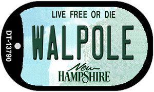 Walpole New Hampshire Wholesale Novelty Metal Dog Tag Necklace DT-13790
