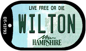 Wilton New Hampshire Wholesale Novelty Metal Dog Tag Necklace DT-13793