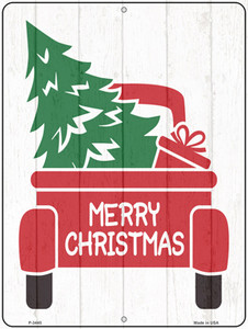Merry Christmas Back Of Truck Wholesale Novelty Metal Parking Sign P-3445