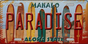 Paradise Surfboards Hawaii State Background Wholesale Metal Novelty License Plate