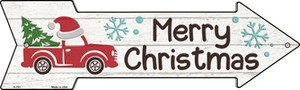 Merry Christmas Truck Hat Wholesale Novelty Metal Arrow Sign A-751