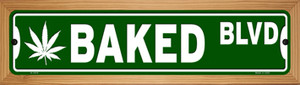 Baked Blvd Wholesale Novelty Wood Mounted Small Metal Street Sign WB-K-1619
