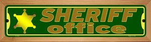 Sheriff Office Wholesale Novelty Wood Mounted Small Metal Street Sign WB-K-1622