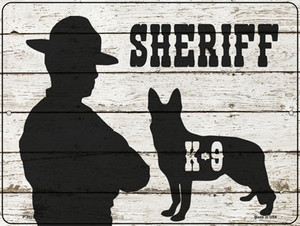 Sheriff K9 Wholesale Novelty Metal Parking Sign P-3322