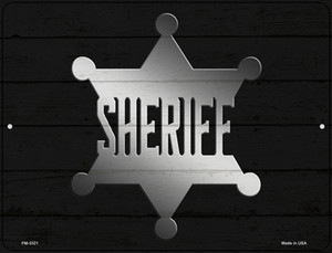 Sheriff Badge Wholesale Novelty Mini Metal Parking Sign PM-3321