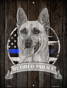 Retired Police K9 Wholesale Novelty Mini Metal Parking Sign PM-3328