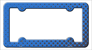 Blue Faded Dots Wholesale Novelty Metal License Plate Frame