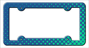 Turquoise Faded Dots Wholesale Novelty Metal License Plate Frame
