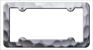 Golfball Ripples Wholesale Novelty Metal License Plate Frame