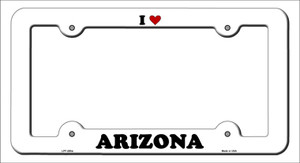 Love Arizona Wholesale Novelty Metal License Plate Frame