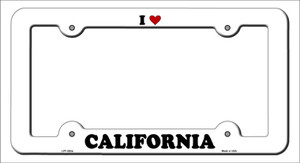 Love California Wholesale Novelty Metal License Plate Frame