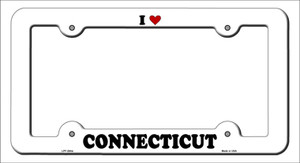 Love Connecticut Wholesale Novelty Metal License Plate Frame