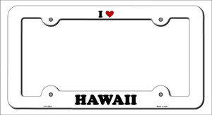 Love Hawaii Wholesale Novelty Metal License Plate Frame