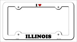Love Illinois Wholesale Novelty Metal License Plate Frame
