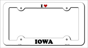 Love Iowa Wholesale Novelty Metal License Plate Frame