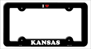 Love Kansas Wholesale Novelty Metal License Plate Frame