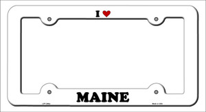 Love Maine Wholesale Novelty Metal License Plate Frame