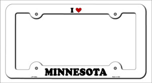 Love Minnesota Wholesale Novelty Metal License Plate Frame