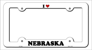 Love Nebraska Wholesale Novelty Metal License Plate Frame