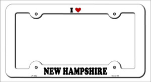 Love New Hampshire Wholesale Novelty Metal License Plate Frame