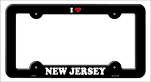 Love New Jersey Wholesale Novelty Metal License Plate Frame