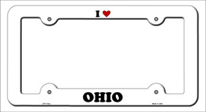 Love Ohio Wholesale Novelty Metal License Plate Frame