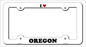 Love Oregon Wholesale Novelty Metal License Plate Frame