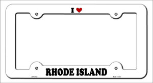 Love Rhode Island Wholesale Novelty Metal License Plate Frame