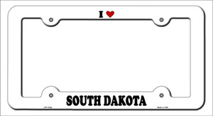 Love South Dakota Wholesale Novelty Metal License Plate Frame
